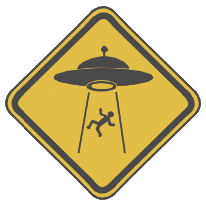 ufo warning sign